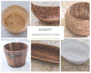 basket as baby photography props