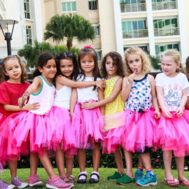 Children in Pink Dresses
